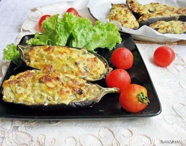 Баклажаны «кучерикас» с сырно-творожной начинкой