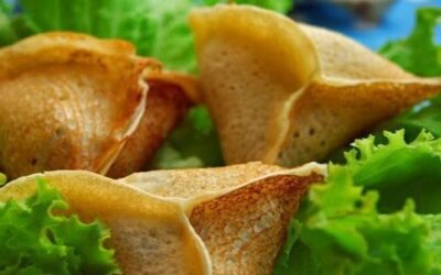 Блинчики с грибами и сыром