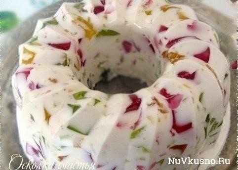 Десерт «осколки счастья»(желейный)