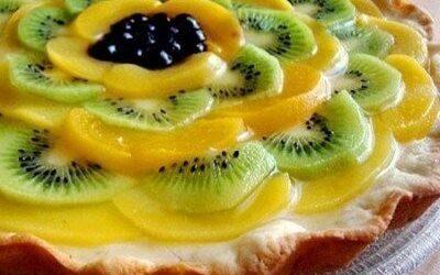 Фруктовый пирог с ягодами