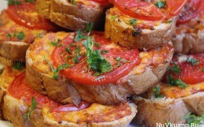 Горячий бутерброд «ленивая пицца» на завтрак