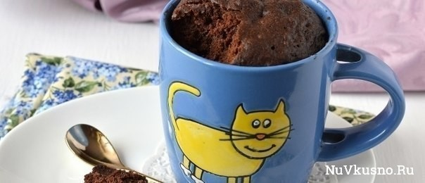 Как приготовить шоколадный кекс за 5 минут в микроволновке