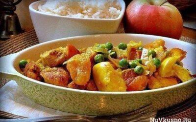 Куриное карри с яблоками