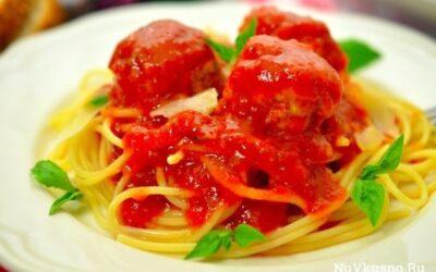 Куриные фрикадельки в ароматном томатном соусе
