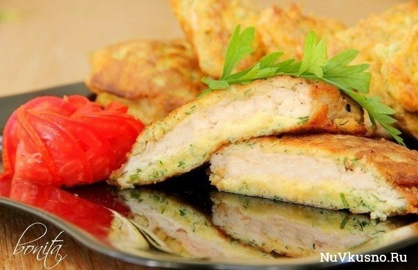 Куриные отбивные с сыром