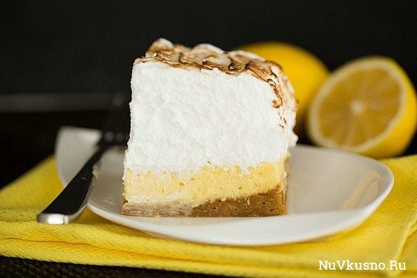 Лимонные пирожные с меренгой