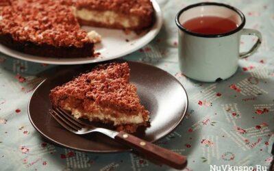 Несложный творожный пирог