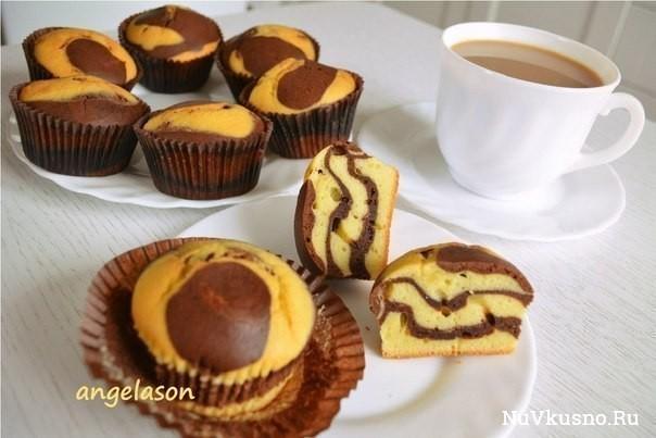 Очень вкусные и простые в приготовлении кексы мини зебрики