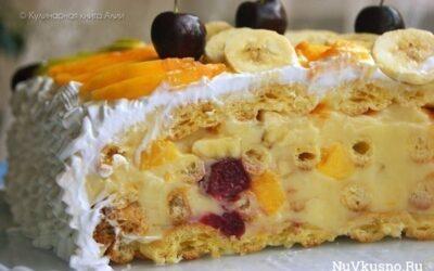 Оригинальный и вкусный летний торт «тропиканка