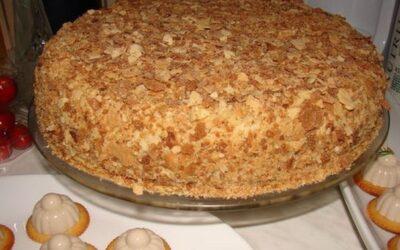 Оригинальный торт наполеон(за пол часа)