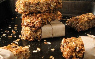 Овсяные батончики с кокосом и шоколадом