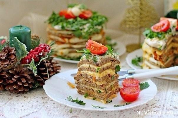 Печёночные мини-тортики