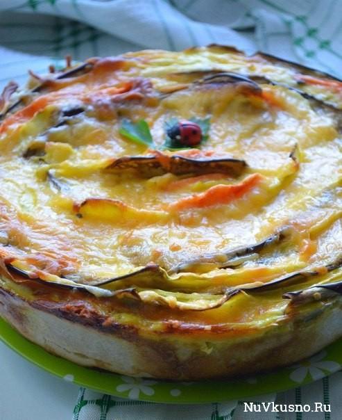 Пирог «овощной цветок»