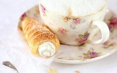 Пирожное «трубочки» с кремом