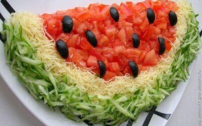 Салат «арбуз