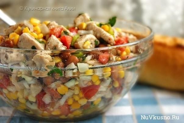 Салат с кукурузкой и курицей