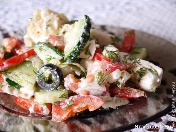 Салат с пекинской капустой «греческий
