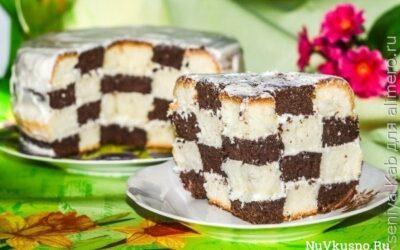 Шахматный торт в мультиварке