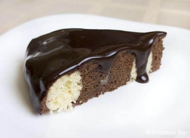 Шоколадно-творожный мягкий пирог