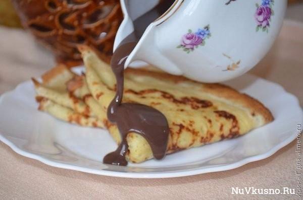 Шоколадный соус для блинов и не только