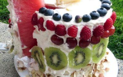 Сказочный арбузный торт