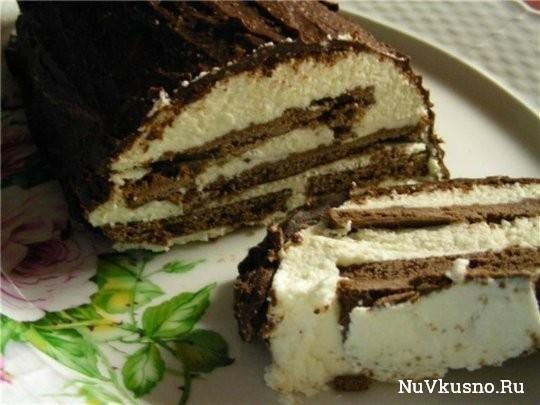 Сметанно-творожный торт (без выпечки!)