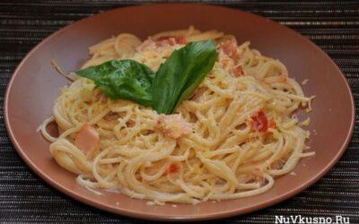 Спагетти «карбонара» со сливками