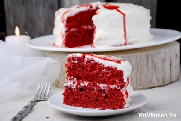 Страшно красивый торт «красный бархат