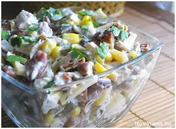Топ — 6 салатов с куриным филе