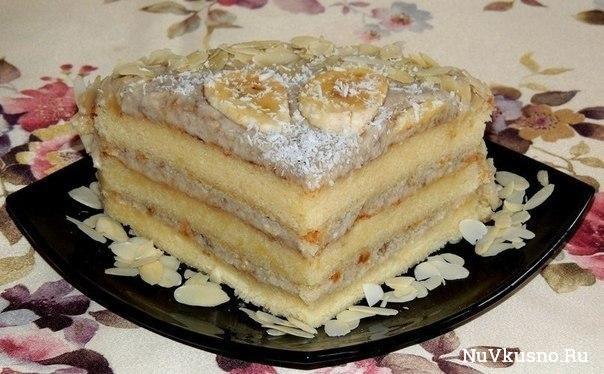 Торт банановый