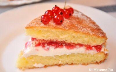 Торт «виктория» или «викторианский бисквит