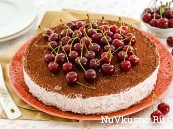 Творожно-ягодный торт(без выпечки)
