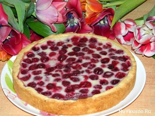 Вишнёво-творожный пирог от юлии матвеевой