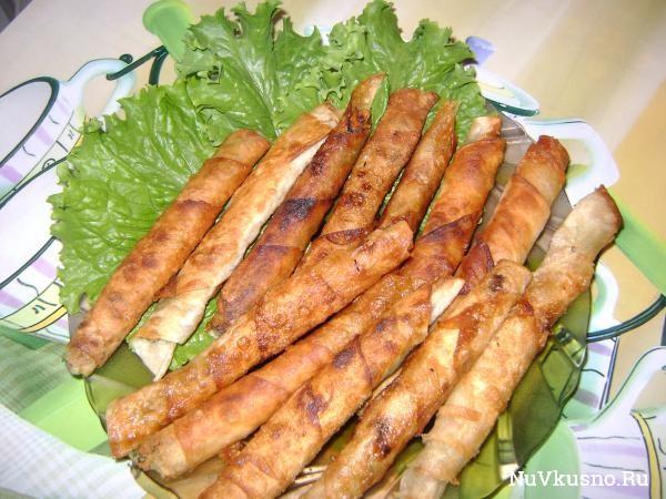 Закусочные «сигареллы» из лаваша