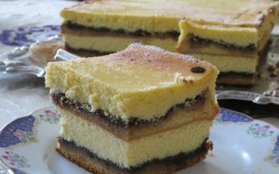 Запеченный чизкейк с бисквитом